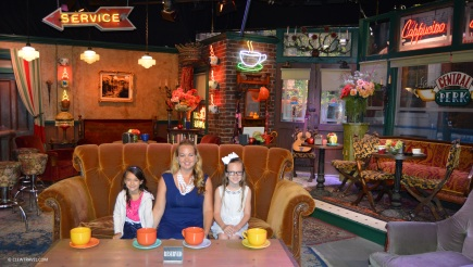 Caitlyn, Brooke and Emily inside Central Perk