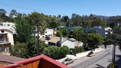The view from the top balcony of the town home