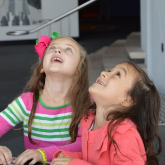 Arabella and Caitlyn launching a rocket!