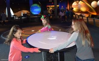 The girls spinning!