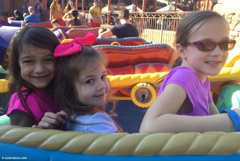 Caitlyn, Reagan and Emily on Aladdin's Carpet Ride