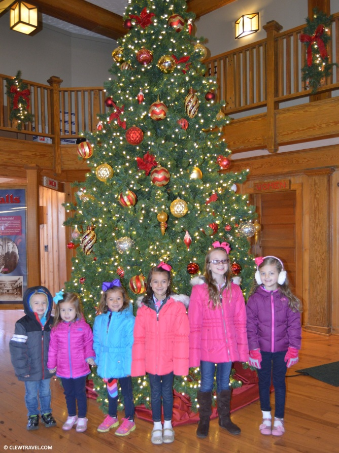 The cousins inside Ruby Falls gift shop