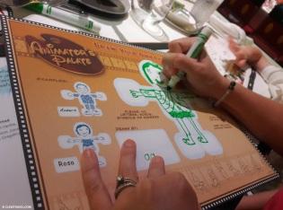 Brooke starting her drawing