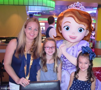 Brooke, Emily and Caitlyn with Sofia the First